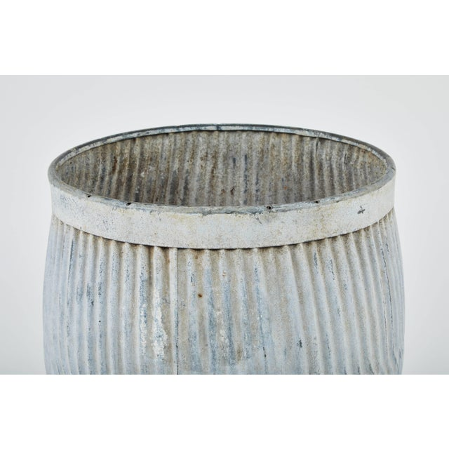 Gray 1990s English Zinc Garden Pots - a Pair For Sale - Image 8 of 10