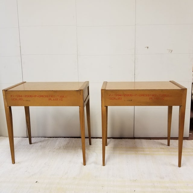 Mid-Century Basic Witz Dressing Tables - A Pair For Sale - Image 5 of 7