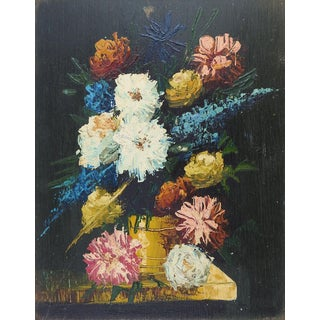 Modernist Floral Still Life Painting For Sale