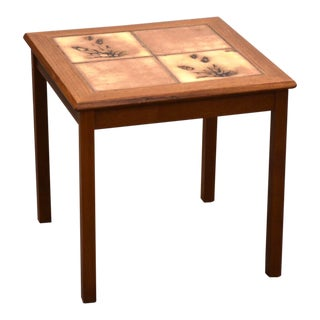 Danish Teak and Tile End Table by Toften For Sale