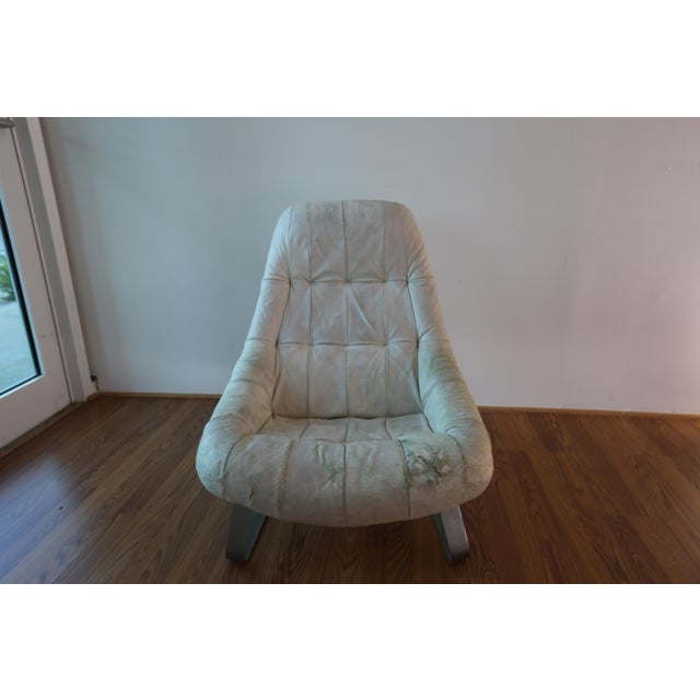 Animal Skin Percival Lafer Earth Chair For Sale - Image 7 of 7