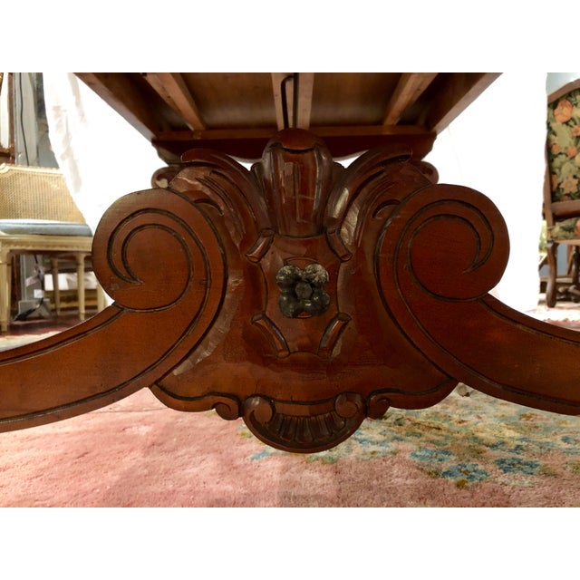 1900 - 1909 Spanish Renaissance Walnut Refectory Table For Sale - Image 5 of 10