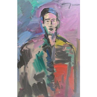 Jose Trujillo Portrait Man Impressionist Oil Painting For Sale
