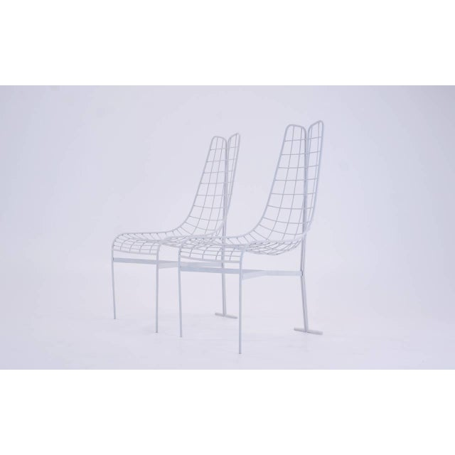 Minimalism 1950s Vladimir Kagan Capricorn HIgh Back Dining Chairs-A Pair For Sale - Image 3 of 7