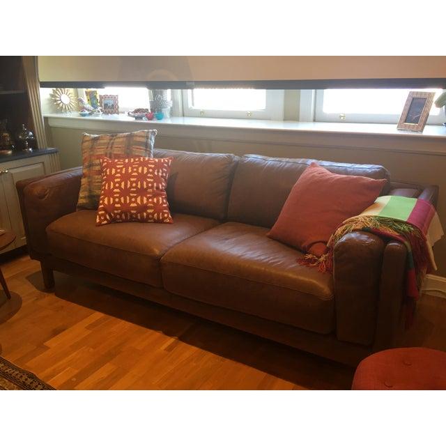 Wondrous West Elm Leather Dekalb Sofa Theyellowbook Wood Chair Design Ideas Theyellowbookinfo