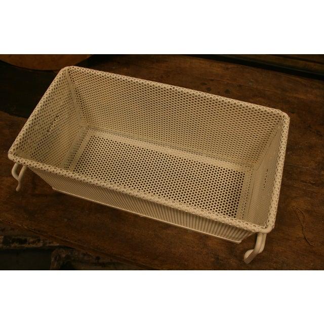 Vintage French Industrial Metal Basket With Handles For Sale In Nashville - Image 6 of 11