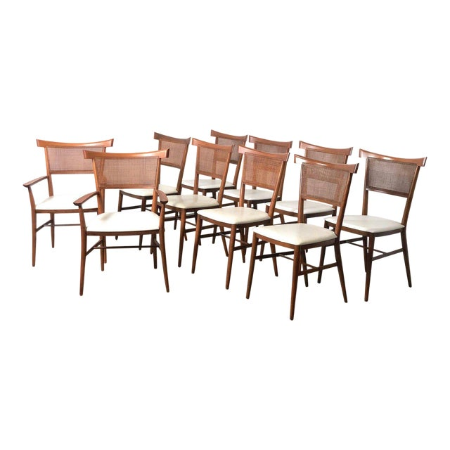 Set of 10 Paul McCobb Cane Dining Chairs, Circa 1950's For Sale