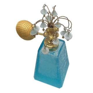 Perfume Bottle W/Floral Atomizer Top Preview