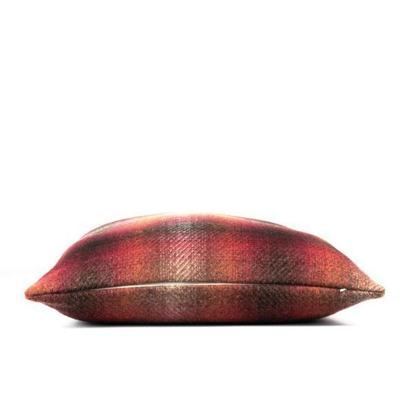 """Red Plaid Ombre Throw Pillow 22"""" x 22"""" For Sale In Baltimore - Image 6 of 7"""
