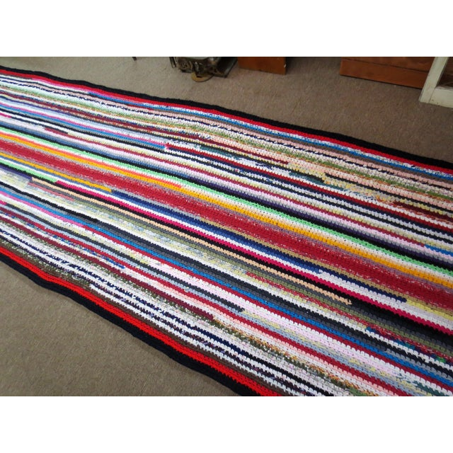 Modern Braided Rag Rug- 4′ × 20′6″ For Sale - Image 9 of 13