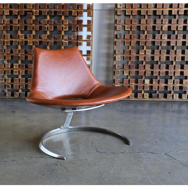 Preben Fabricius & Jørgen Kastholm Scimitar Chairs by Ivan Schlecter Circa 1965 For Sale - Image 11 of 11