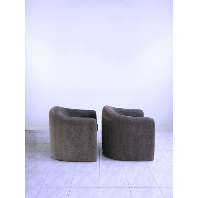 1990s Vladimir Kagan for Preview Biomorphic Freeform Minimalist Armchairs - a Pair For Sale - Image 5 of 11
