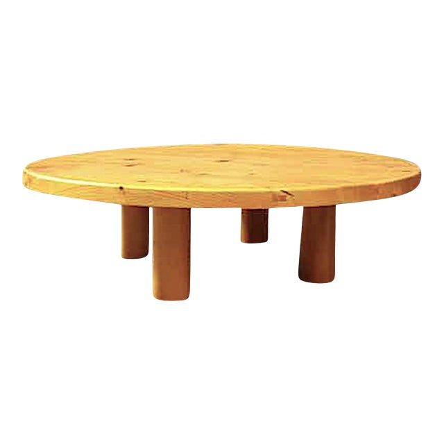 Charlotte Perriand for Les Arcs Stunning Big Pine Coffee Table For Sale