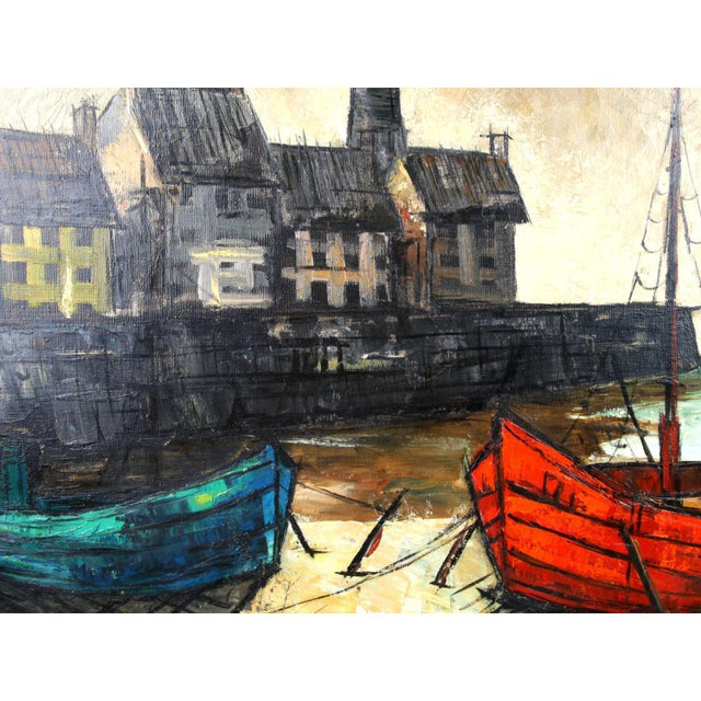Harbor Scene Painting By M Edward Griff Chairish
