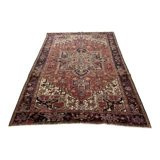 Early 20th Century Antique Persian Heriz Rug - 8′3″ × 12′5″ For Sale