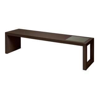 Veere Grenney Collection Temple Coffee Table in Chocolate For Sale