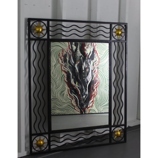 Contemporary Poillerat Style Mirror For Sale - Image 3 of 3