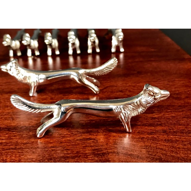Cottage Silver Plated Fox Knife Rests - Set of 6 For Sale - Image 3 of 5