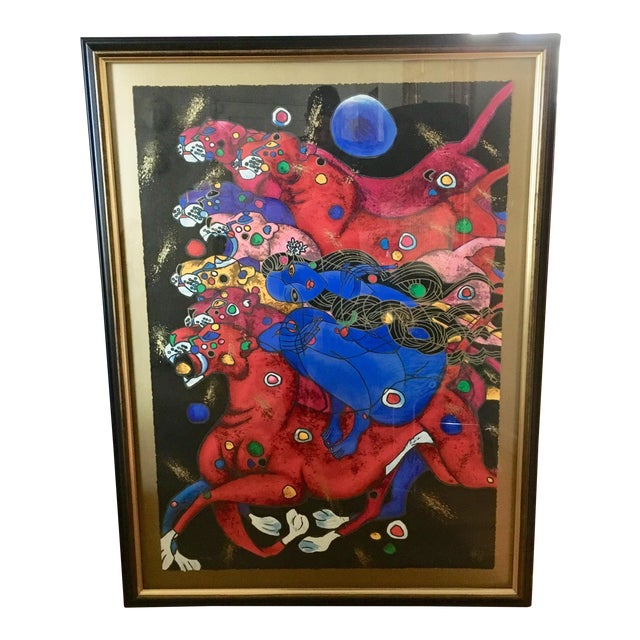 """""""Panthers"""" by Jiang Tiefeng For Sale"""