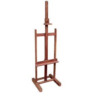 1920s Traditional French Oak Artist's Easel