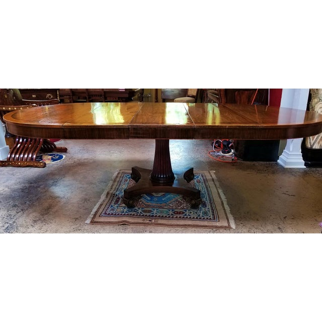 Late 19th Century American Mahogany Extendable Dining or Center Table For Sale In Dallas - Image 6 of 13