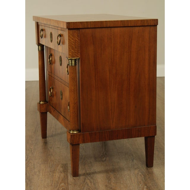 1960s Baker French Empire Style Vintage Walnut Commode Chest of Drawers For Sale - Image 5 of 13