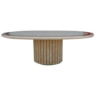 J.C. Mahey French Faux Marble Dining Table