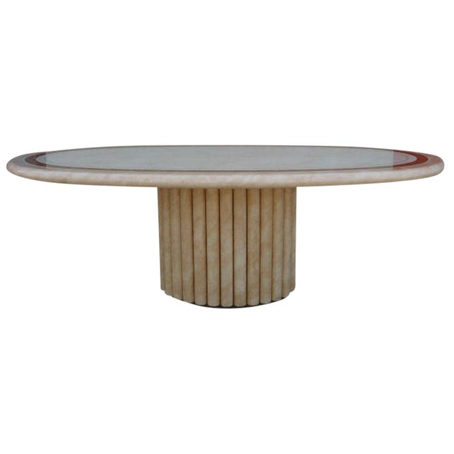 J.C. Mahey French Faux Marble Dining Table For Sale