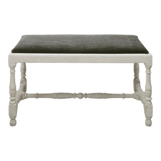 Vintage Baroque Style Upholstered Bench