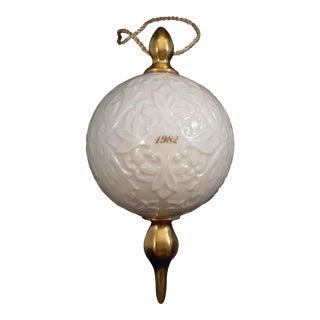 1982 Lenox Porcelain Christmas Ornament For Sale