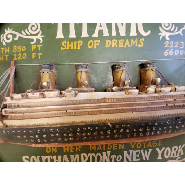 """Original Early 20th Century Mixed Media Art """"Remember the Titanic"""" For Sale - Image 12 of 13"""