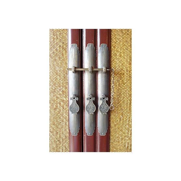 Cantonese Rattan Door Armoire - Image 3 of 6