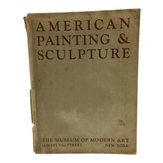 1932 Antique MoMA American Painting & Sculpture Book For Sale