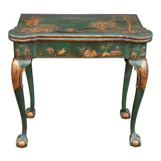 Late 19th C English Chinoiserie Game Table
