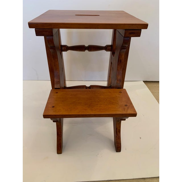 Antique Birdseye Maple Library Steps For Sale - Image 11 of 13