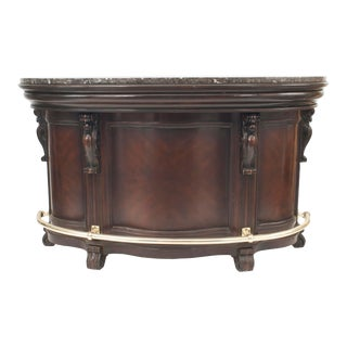 American Victorian Style Stained Wood Bar For Sale