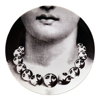 Piero Fornasetti Porcelain Plate Themes & Variation Pattern 107, Tema E Variazioni, the Necklace For Sale