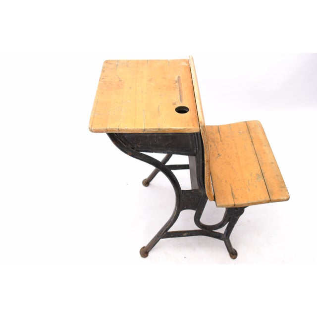 American Seating Antique School Desk For Sale - Image 5 of 10 - American Seating Antique School Desk Chairish