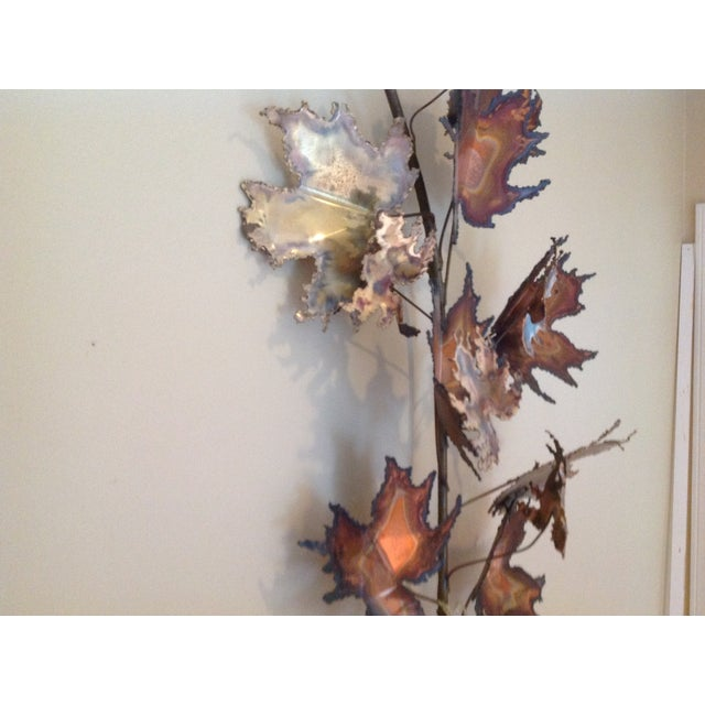 C Jere Brass Autumn Leaves Wall Sculpture, 1971 - Image 4 of 6