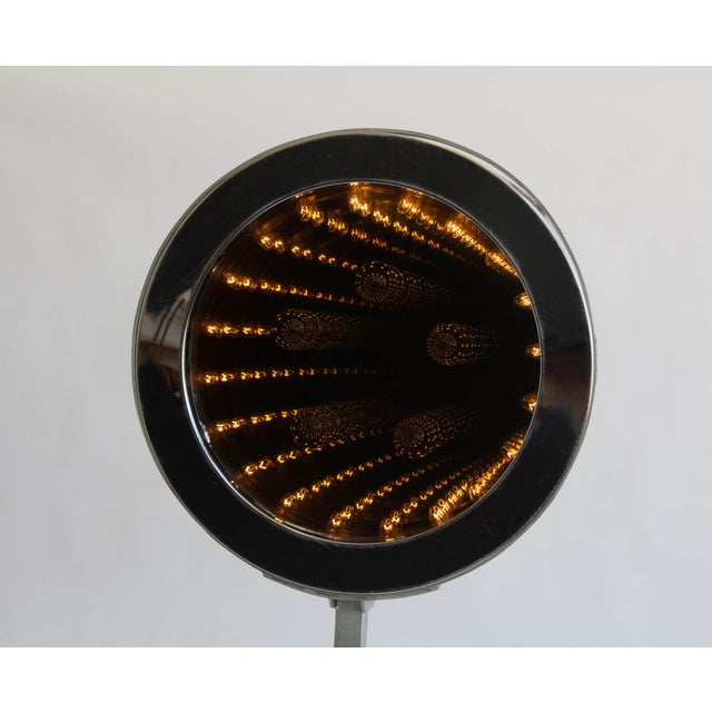 Mid-Century Modern Curtis Jeré Infinity Mirror with Floor Mount For Sale - Image 3 of 7