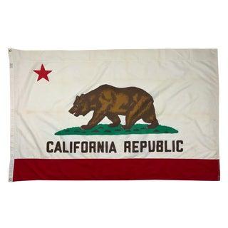 Mid 20th Century Cotton California Republic Flag For Sale