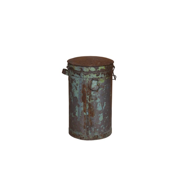 Eliminate countertop clutter elegantly with this old iron canister. This iron canister have a natural finish and crafted...