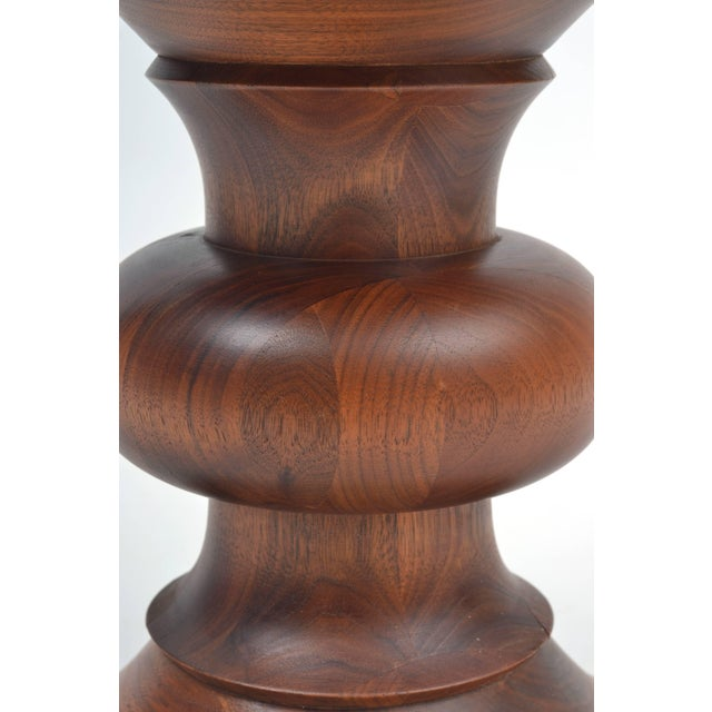 1960s Vintage Eames Walnut Time Life Stool Model B, Circa 1960s For Sale - Image 5 of 11