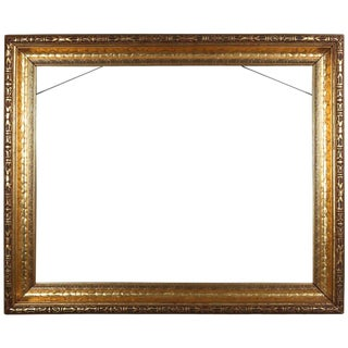Arts & Crafts Carved Gold Modeled Giltwood Frame, 20th Century For Sale