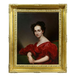 """Mrs. George Washington Lay"" Portrait of Woman Painting by Rembrandt Peale For Sale"