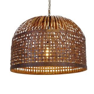 Vintage Basket Cage Lantern For Sale