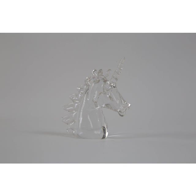 Marcolin Art Crystal Unicorn Sculpture For Sale In Richmond - Image 6 of 7