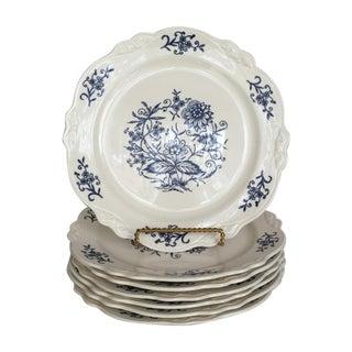 Blue Dresden Plates - Set of 7