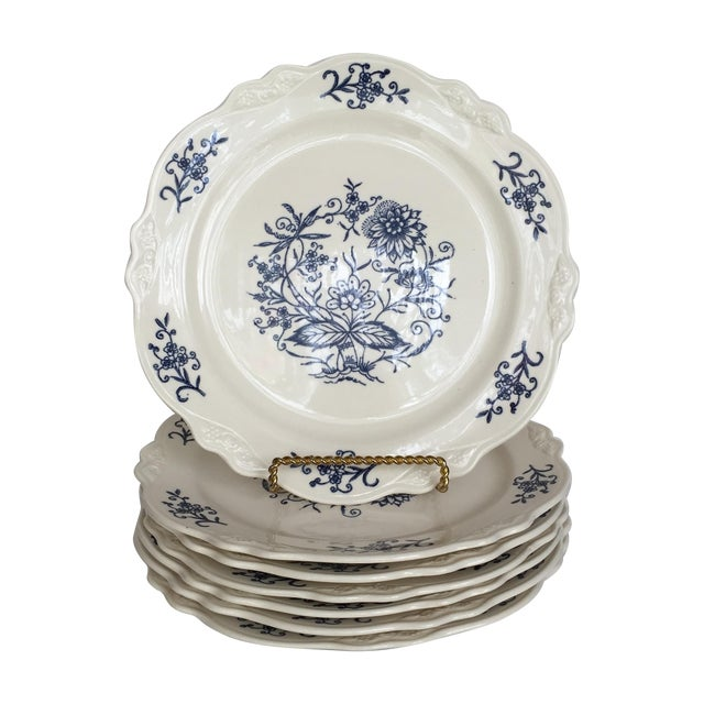 Blue Dresden Plates - Set of 7 For Sale