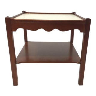 Hickory Chair Chippendale Wood Lamp Table For Sale